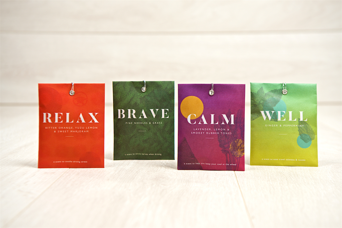 relax brave calm well print fragrance small sachets