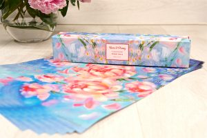 rose and peony scented drawer liner