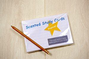 tropical scented study cards
